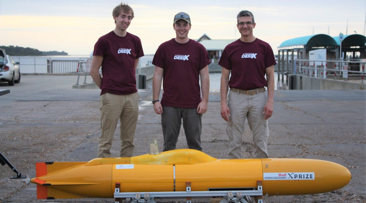 The Virginia Tech DEEP-X Team advances to the final round of the Shell Ocean Discovery XPRIZE competition after competing in Panama City, FL.