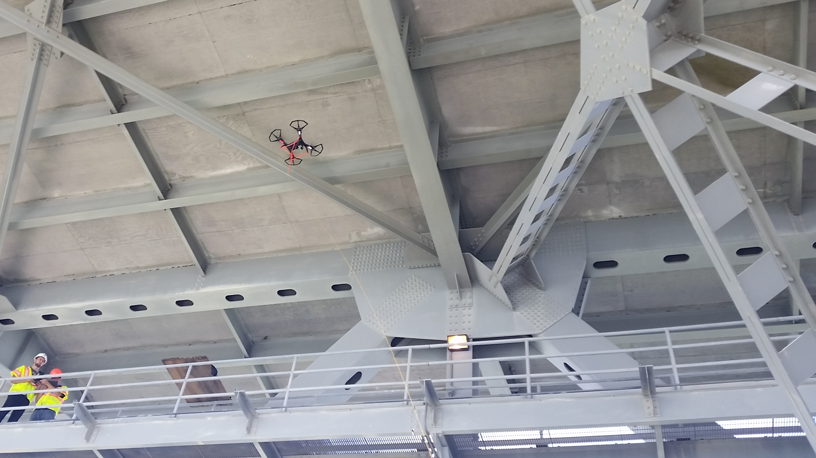Quadcopter at Coleman Bridge